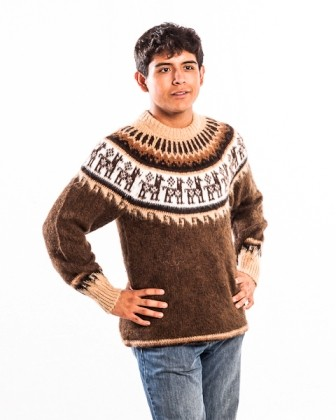 Pullover Kuschel aus Alpakawolle XL