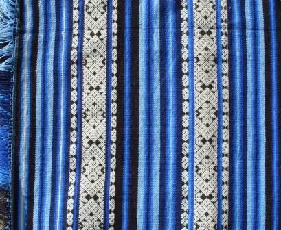 Poncho blau Muster