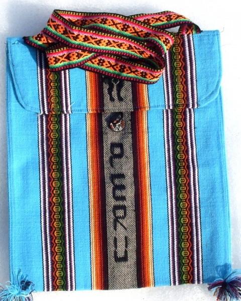 Umhängetasche Peru hellblau