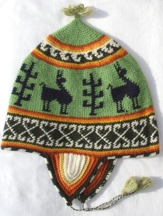 Alpaka Mütze crochet 63 cm bis 65 cm