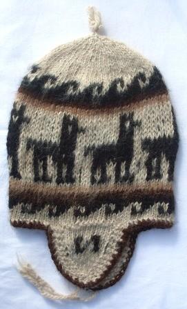 Alpaka Mütze Peru 38 - 42 cm
