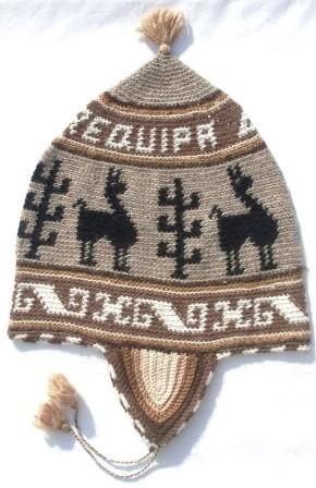 Alpaka Mütze crochet 58 cm bis 62 cm