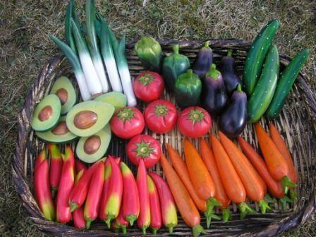 Gemüse aus Balsholz