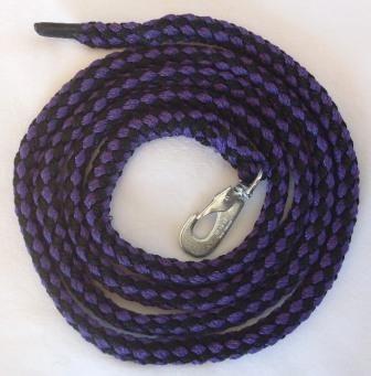 Leine violett-schwarz