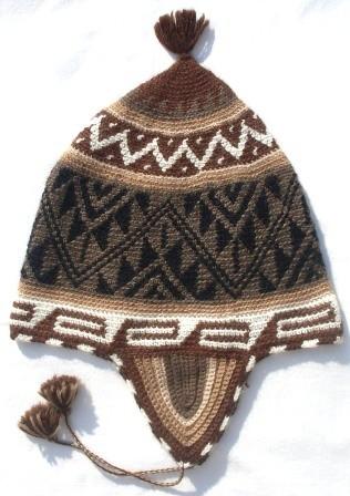 Alpaka Mütze crochet 60 cm bis 62 cm