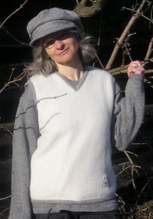Damen Pullunder weiß