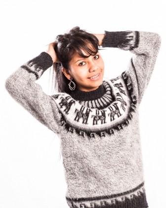 Pullover Kuschel aus Alpakawolle Größe S