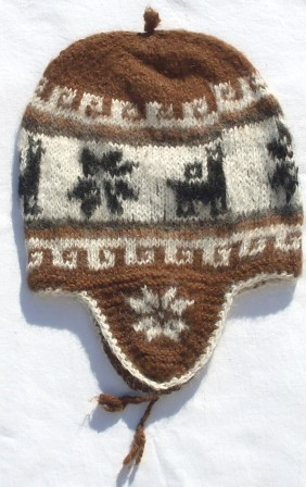 Mütze Peru 54 - 58 braun