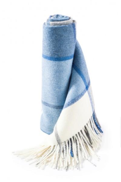 6265 Webdecke weiß pastellblau