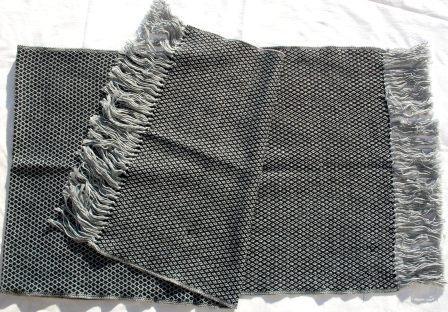 Schal silbergrau-schwarz