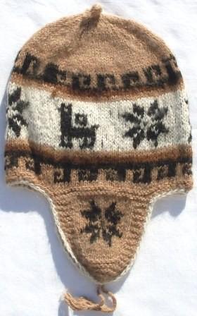 Mütze Peru 60 - 63 hellbraun