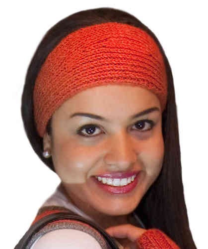 Stirnband rot-orange